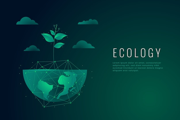 Ecology concept wallpaper