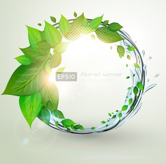 Ecology concepts modern banner foliage