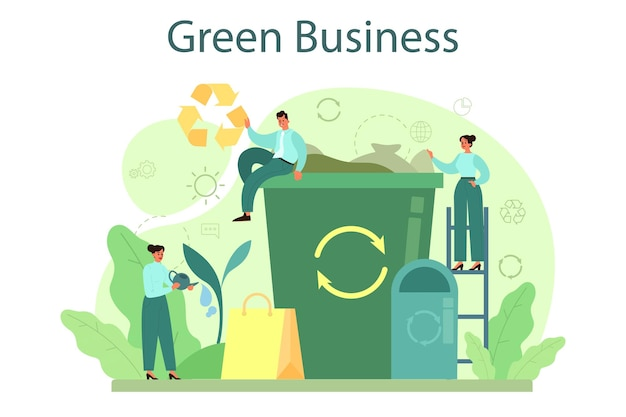 Ecology or eco friendly business