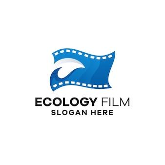 Ecology film gradient logo template