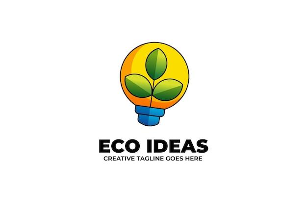 수채화 스타일의 생태 이동 녹색 아이디어 마스코트 로고