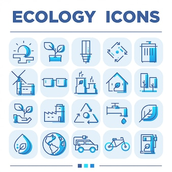 Ecology icon sets
