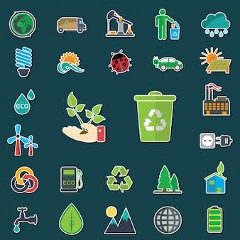 Collezione di icone di ecologia