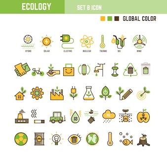 생태 infographic 요소 집합