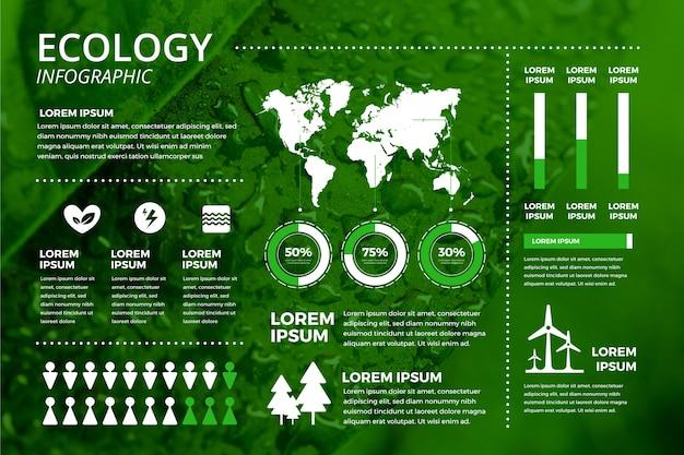 Экология инфографики с концепцией фото