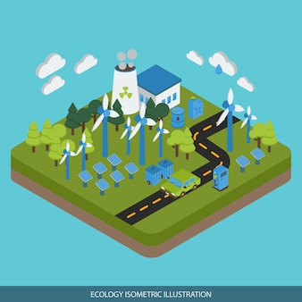 Ecology isometric design