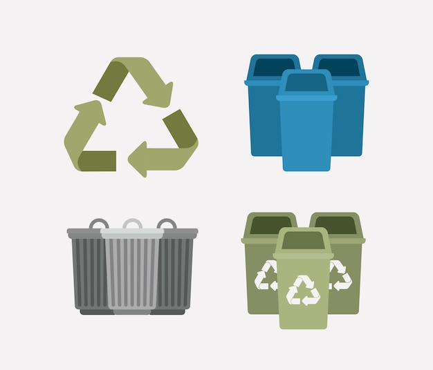 Ecology lifestyle set icons