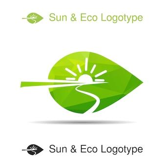 Ecology logotype icon and nature symbol