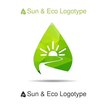 Ecology logotype, icon and nature symbol
