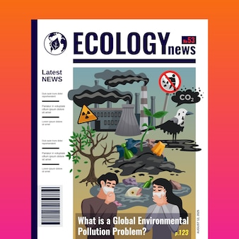 Ecology magazine cover template