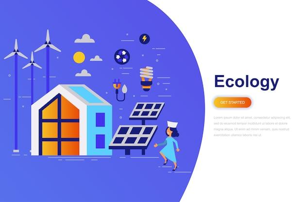 Ecology modern flat concept web banner