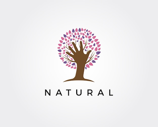 Ecology, natural environment logo. tree, gardening or farming icons