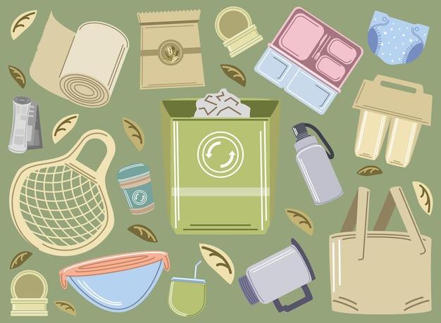 エコロジーのリサイクルと再利用