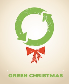 Ecology and recycling christmas background
