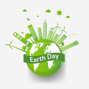 친환경 아이디어와 생태 도시 개념 및 환경