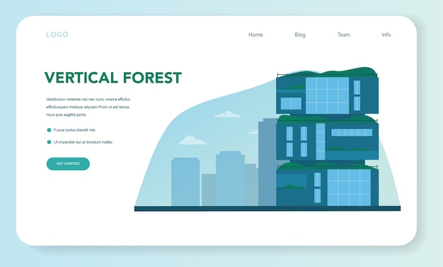 Ecology web banner or landing page