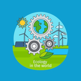 Ecology in the world concept