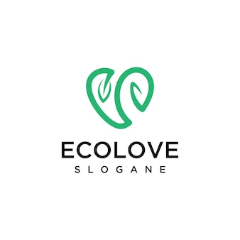 Ecoloveロゴデザインテンプレート