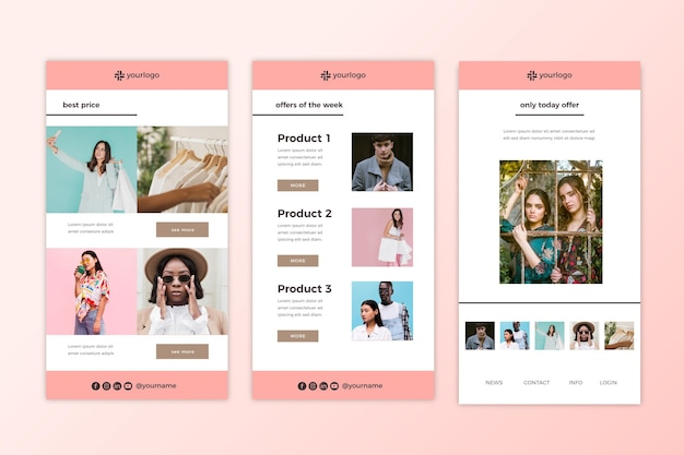 Ecommerce email template pack