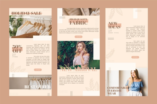 Ecommerce email template set