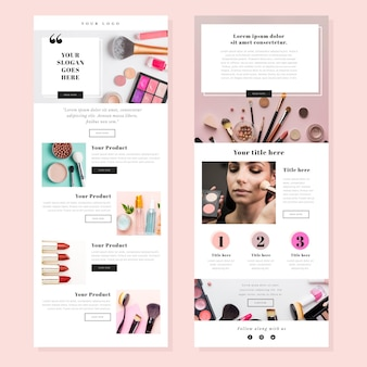 Ecommerce email templates set