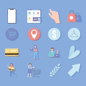 Ecommerce shopping set
