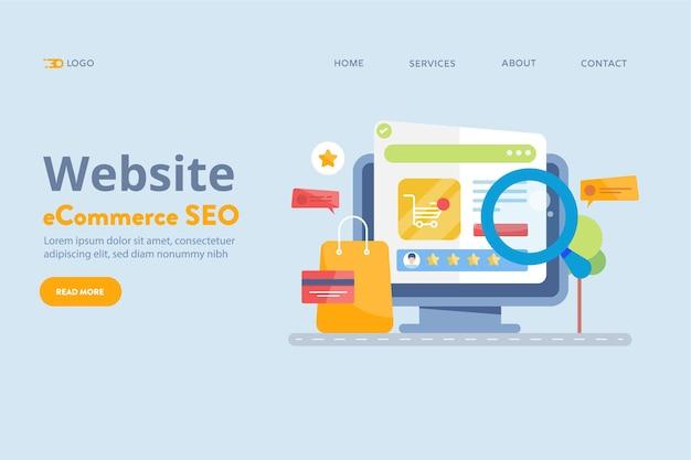 Ecommerce website seo concept