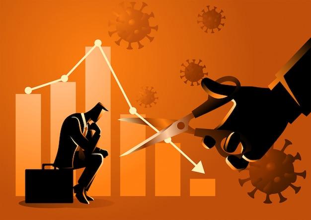 Экономический кризис из-за пандемии ковид-19 заставил сделать стратегию сокращения потерь