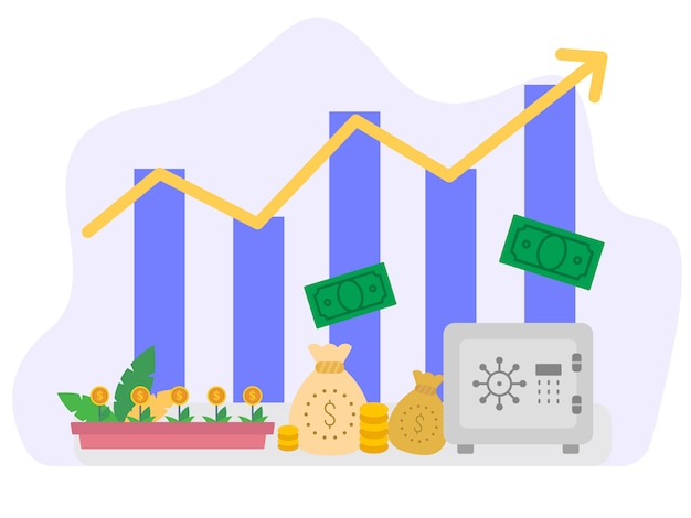 Economic growth vector illustration concept