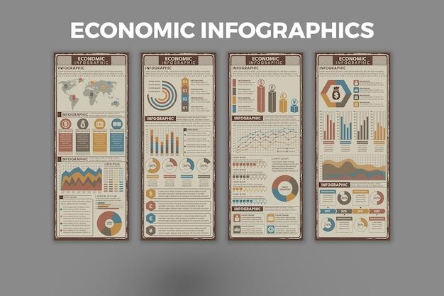 経済インフォグラフィックテンプレート