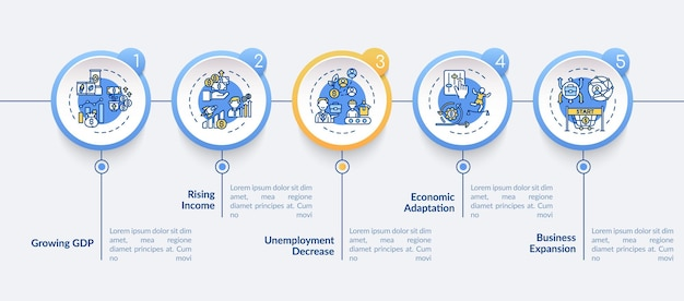 Инфографический шаблон для корректировки и восстановления доходов