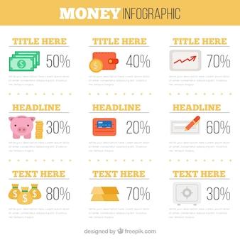 フラットな設計で経済グラフィック