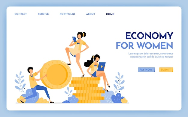 Economy for women landing page