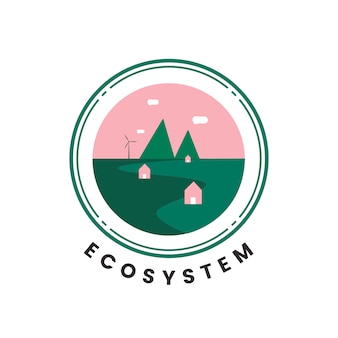 Ecosystem and nature icon vector