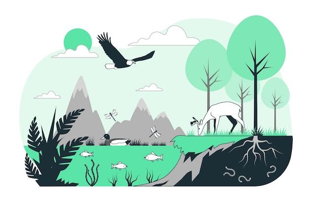 생태계 개념 그림