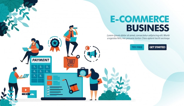 Ecosystem in e-commerce business, starting choosing product, payment & shipping method