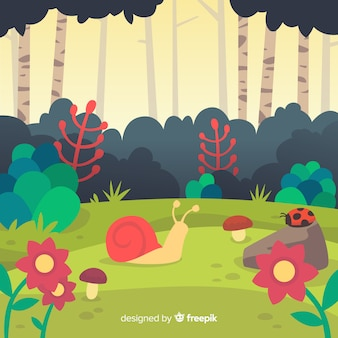 Ecosystem and nature concept in flat style