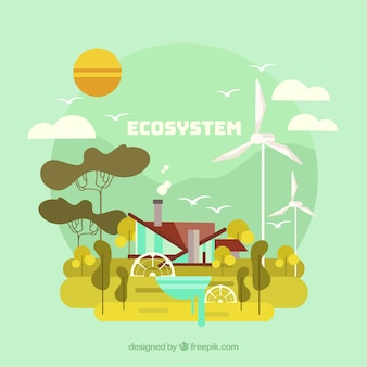Ecosystem and renewable energy concept