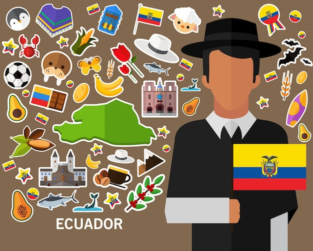 Ecuador concept background
