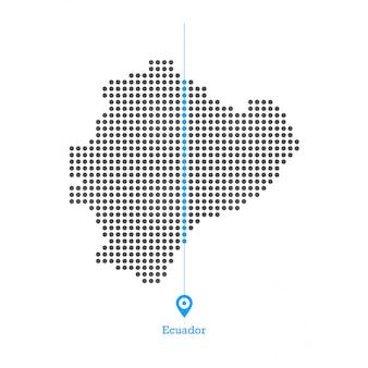 Ecuador doted map design vector