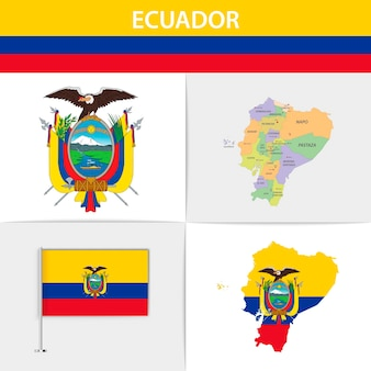 에콰도르 국기지도 및 국장