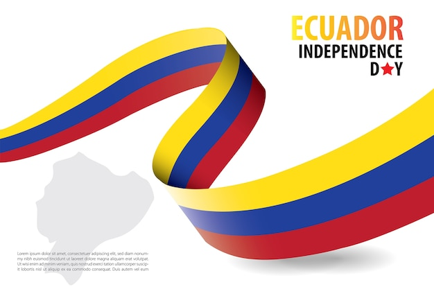 Ecuador independence day background template