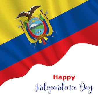 Ecuador independence day background
