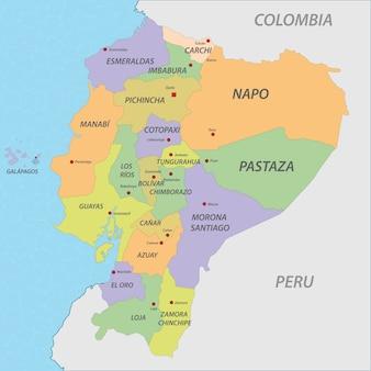 Карта карты эквадора