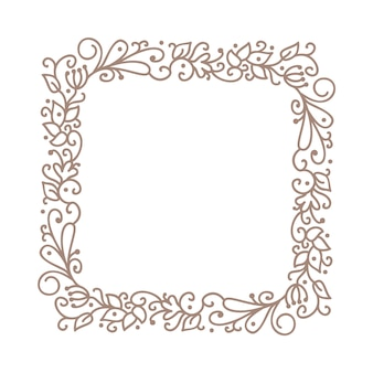 Edding frame wreath with place for text