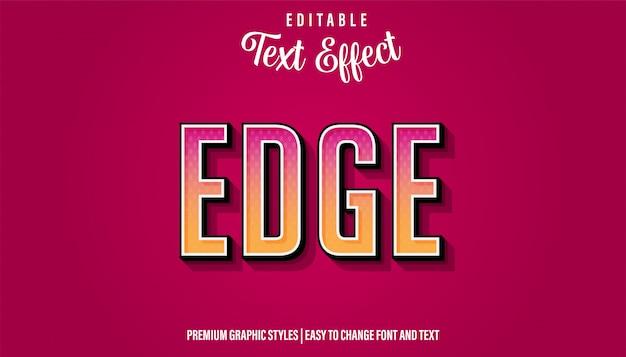 Edge modern gradient style редактируемый текстовый эффект