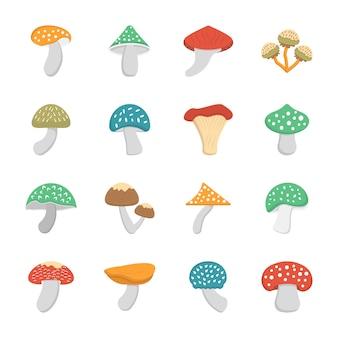 Edible mushroom icons