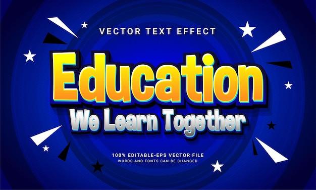 編集可能なテキストスタイル効果をテーマにした教育学校を一緒に学ぶ教育