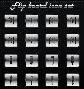 Edit vector flip mechanical icons for user interface design