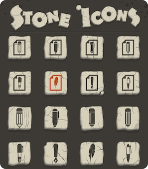Edit vector icons for web and user interface design